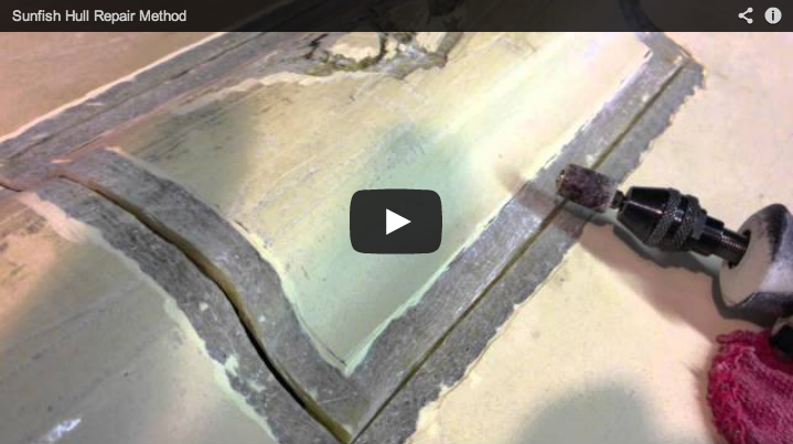 Sunfish Hull Repair Shoreline Method Shoreline Sailboats