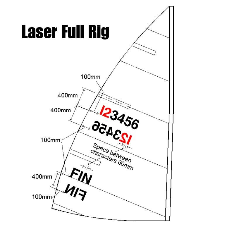 Laser Standard Numbers sail