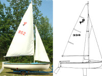 (Sold) MFG Pintail 14′ Sailboat $350