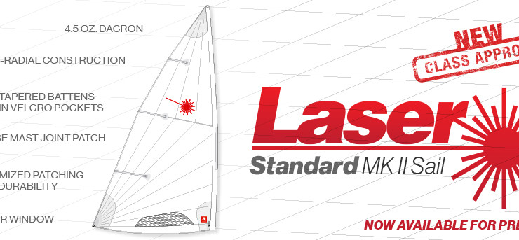 Laser Mark II Sail Now Class-Legal