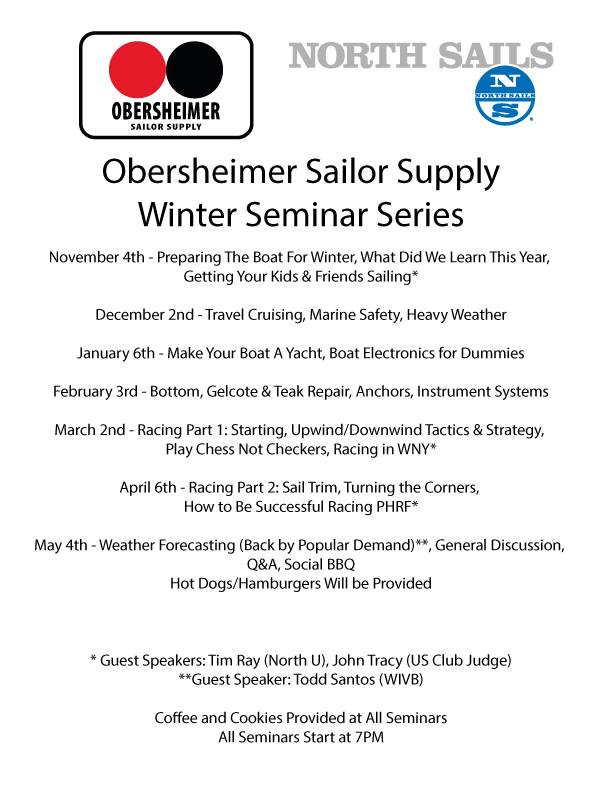 Obersheimer Sailor Supply – Winter Seminar Series